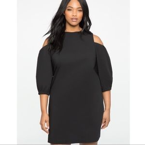 NWT Eloquii Cold Shoulder Black Dress